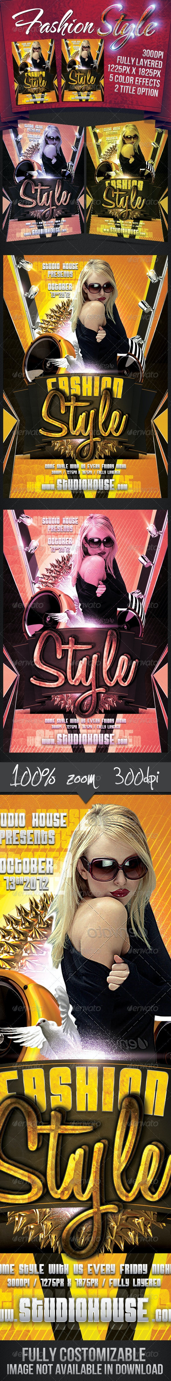 Fashion Style Party Flyer - Miscellaneous Events