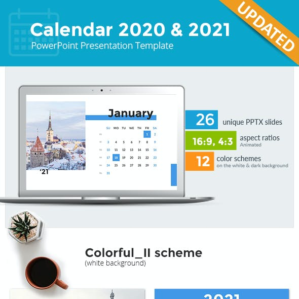 Calendar 2021 and 2020 PowerPoint Presentation Template