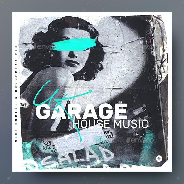 Garage House Music 06 – Album Cover Artwork Template