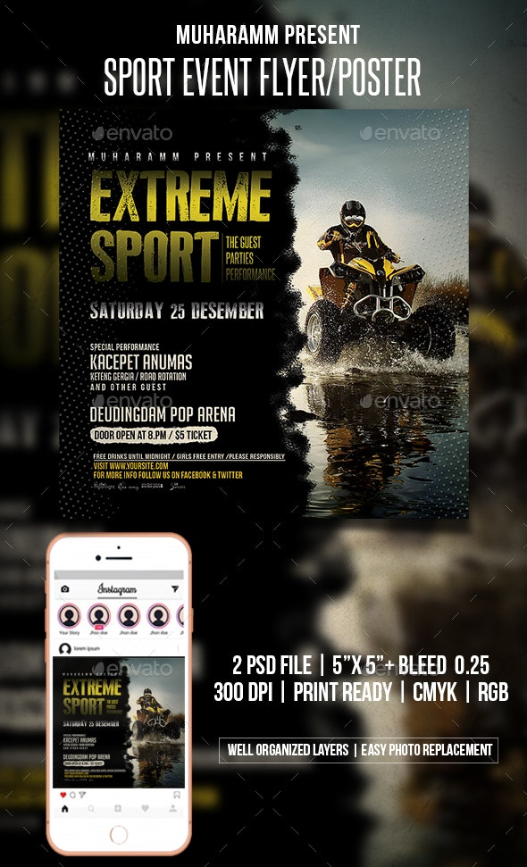 Sport Event Flyer / Templates - Events Flyers
