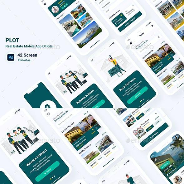 Plot - Real Estate Mobile App UI Kits