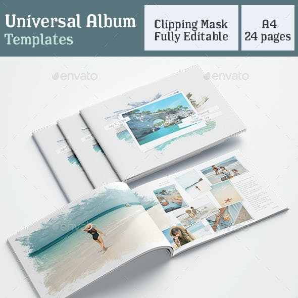 Universal Photobook Template A4 White