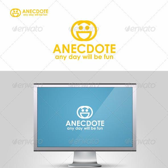 Anecdote - Funny Face Logo