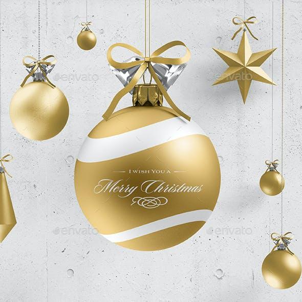 Christmas Ball Mock-up 3