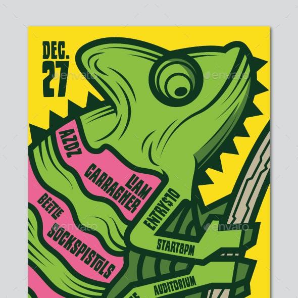Chameleon Indie Rock Flyer