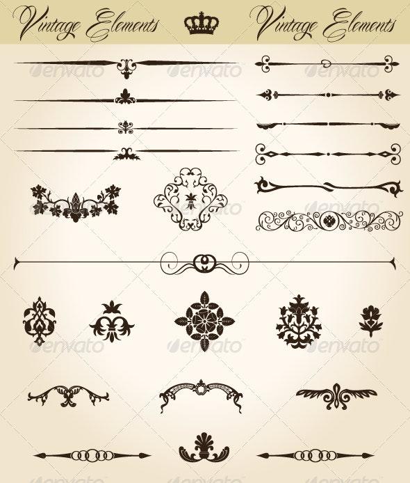 Vintage Elements - Decorative Symbols Decorative