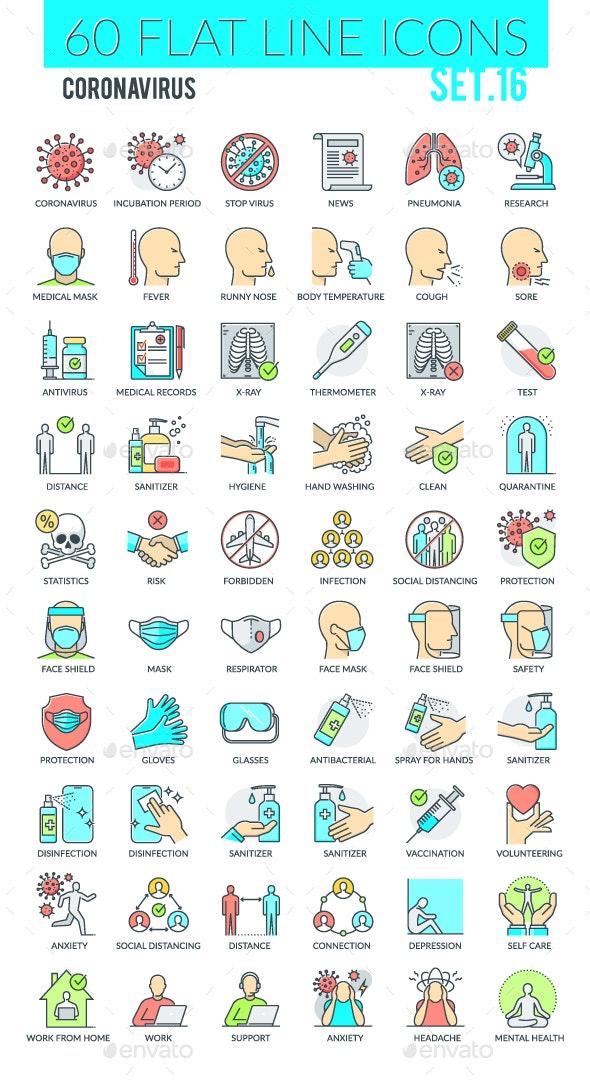 Coronavirus Icons - Miscellaneous Icons