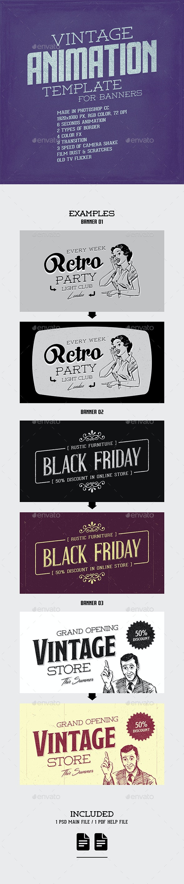 Vintage Animation Template - Miscellaneous Graphics
