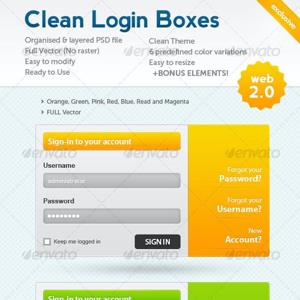 Clean Web 2.0 Login Boxes + BONUS!