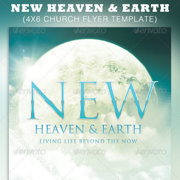 New Heaven and Earth Church Flyer Template
