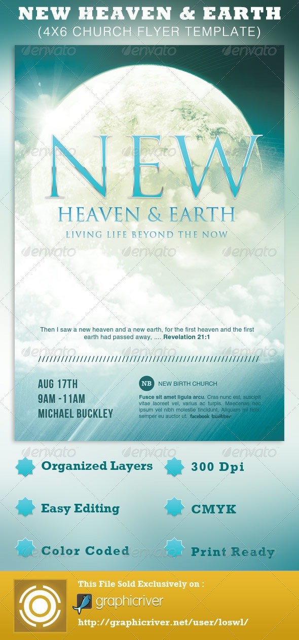 New Heaven and Earth Church Flyer Template - Church Flyers