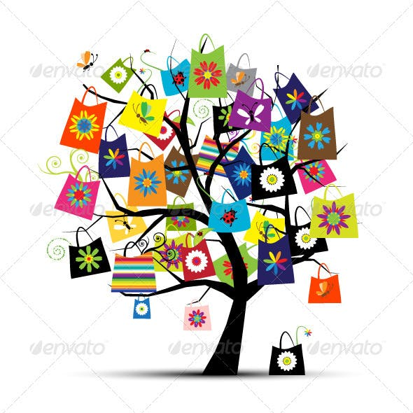Shopping Tree With Bags