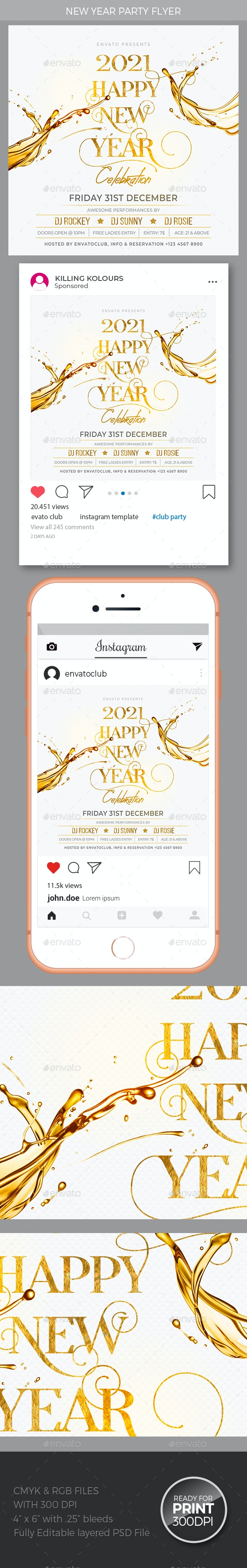 New Year - Events Flyers