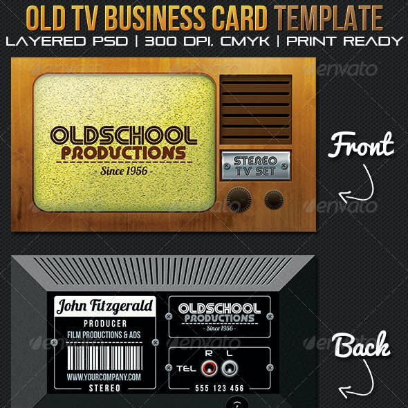 Oldschool Productions Business Card Template