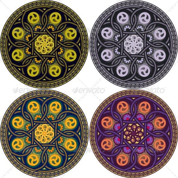 Plate with national Arabian patterns - Decorative Symbols Decorative