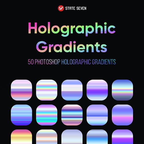 Holographic Photoshop Gradients