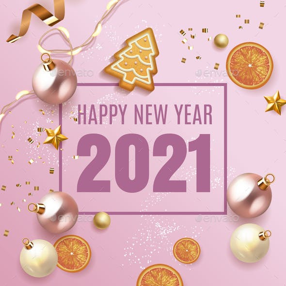 Merry Christmas and Happy New Year 2021 Design