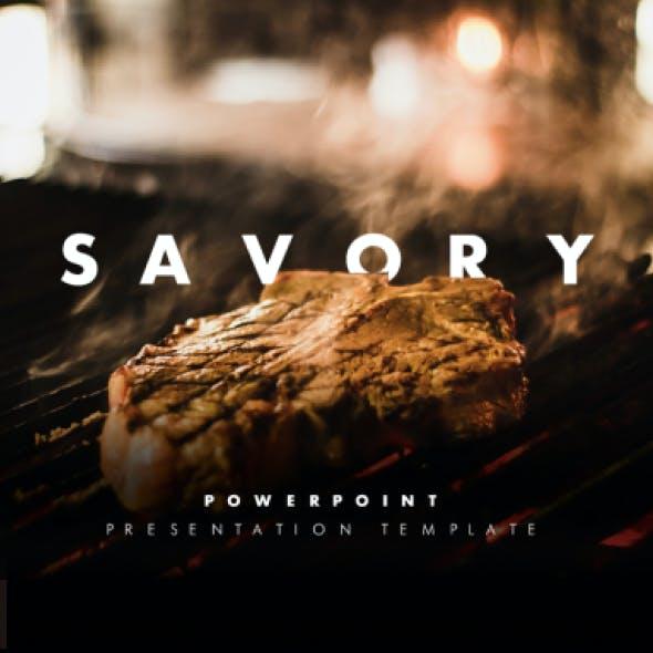 Savory Modern Restaurant PowerPoint Presentation