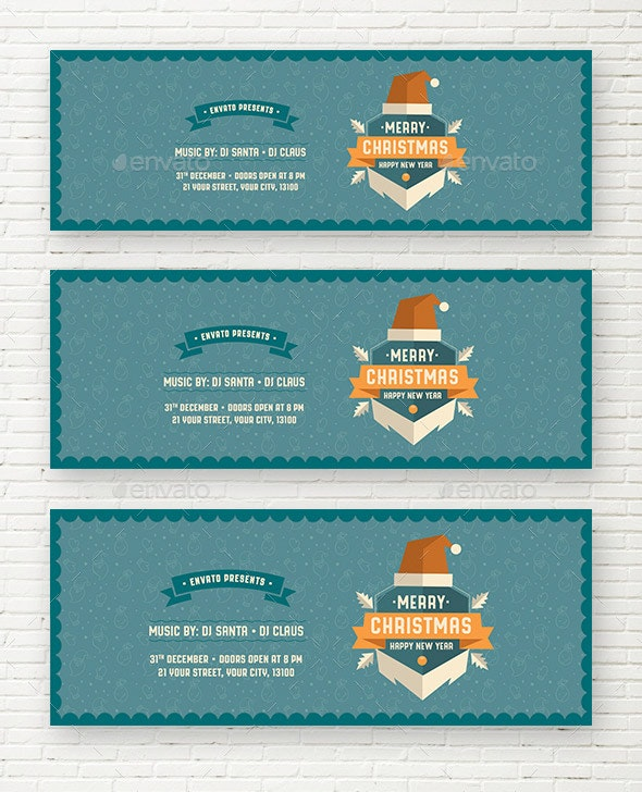 Merry Christmas & Happy New Year Web Sliders - Sliders & Features Web Elements