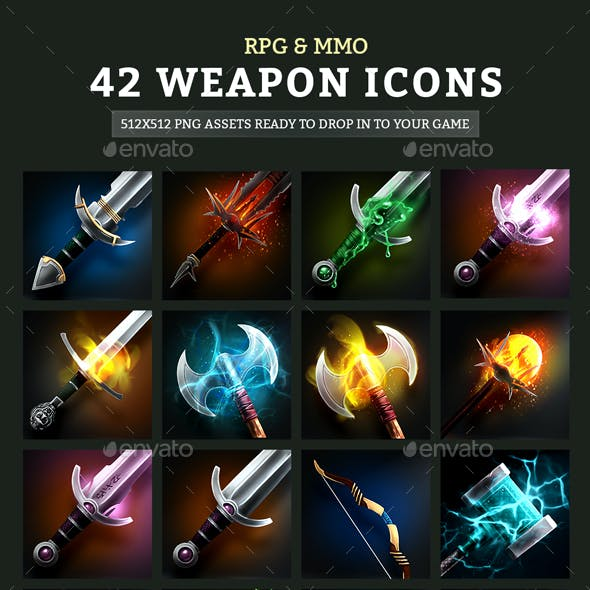 RPG & MMO Weapon Icons