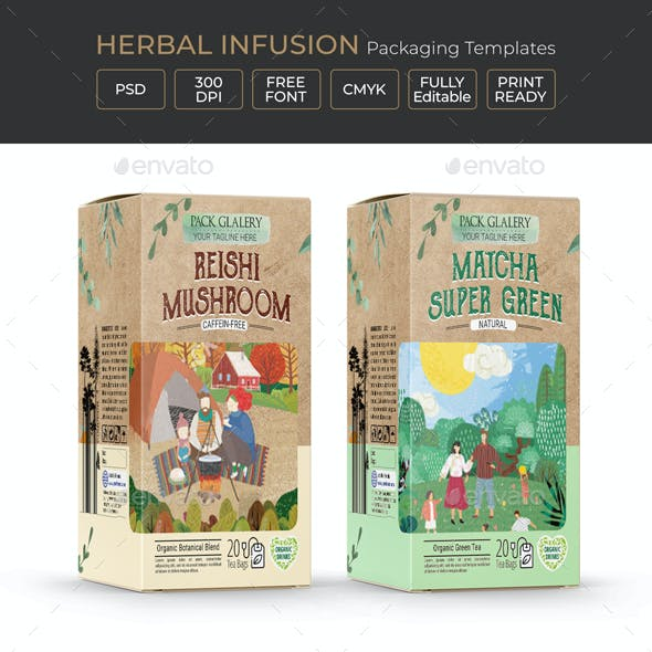 Herbal Infusion Packaging Template