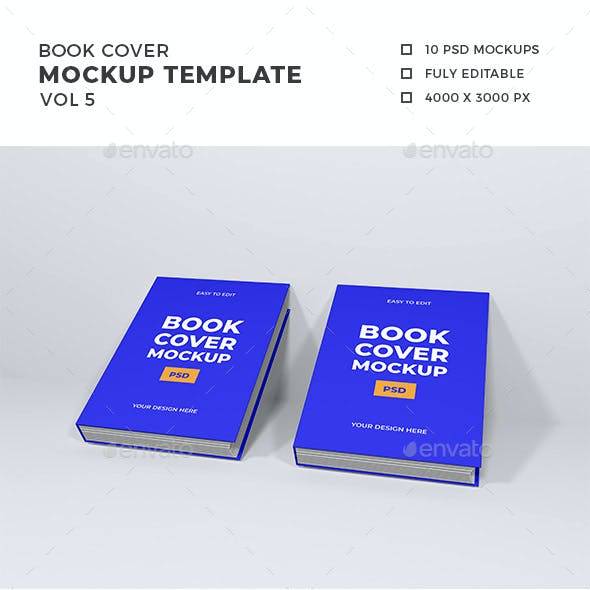 Book Cover Mockup Template Vol 5