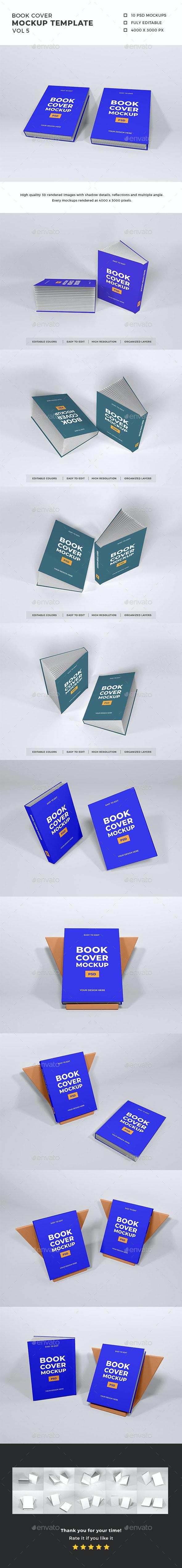 Book Cover Mockup Template Vol 5 - Books Print