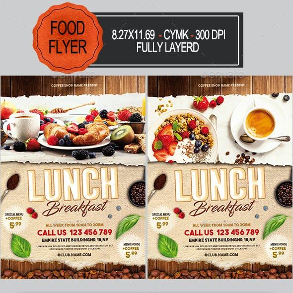 Breakfast Lunch Flyer