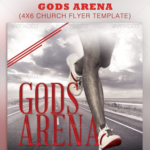 Gods Arena Church Flyer Template