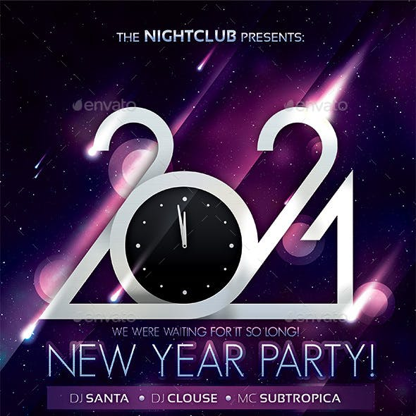 2021 New Year Party Poster