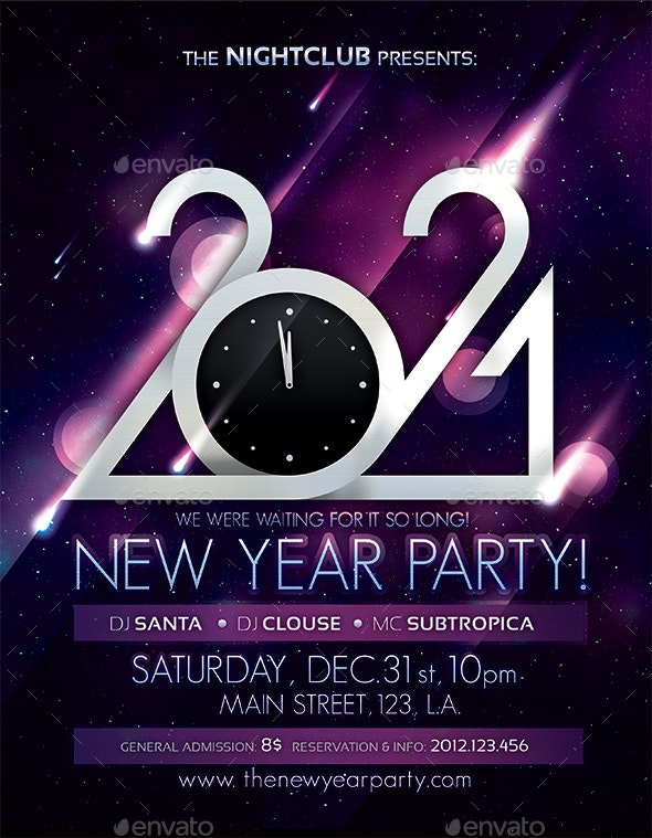 2021 New Year Party Poster - Clubs & Parties Events