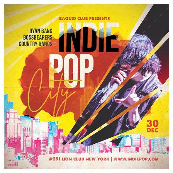 Indie Pop City Flyer
