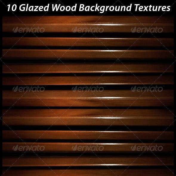 10 Glazed Wood Background Textures