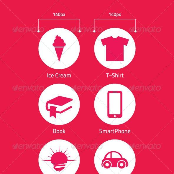 Various Icons Set.