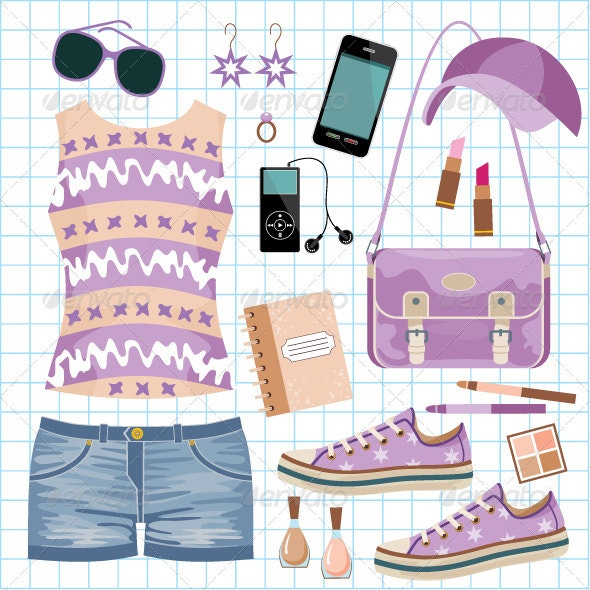 Youth fashionable set - Commercial / Shopping Conceptual