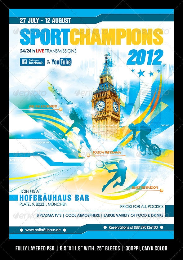 Summer Games Poster/Flyer - Sports Events