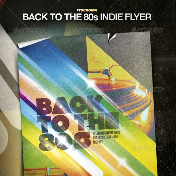 Indie Vintage Poster Template / Back to the 80s