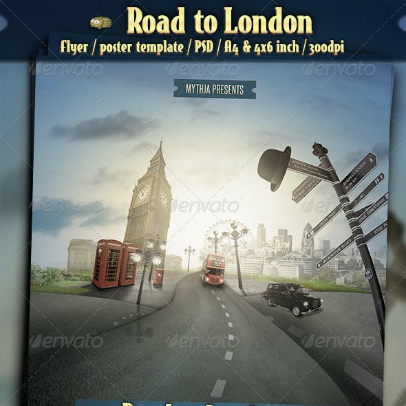 Road to London - Event Flyer/Poster Template