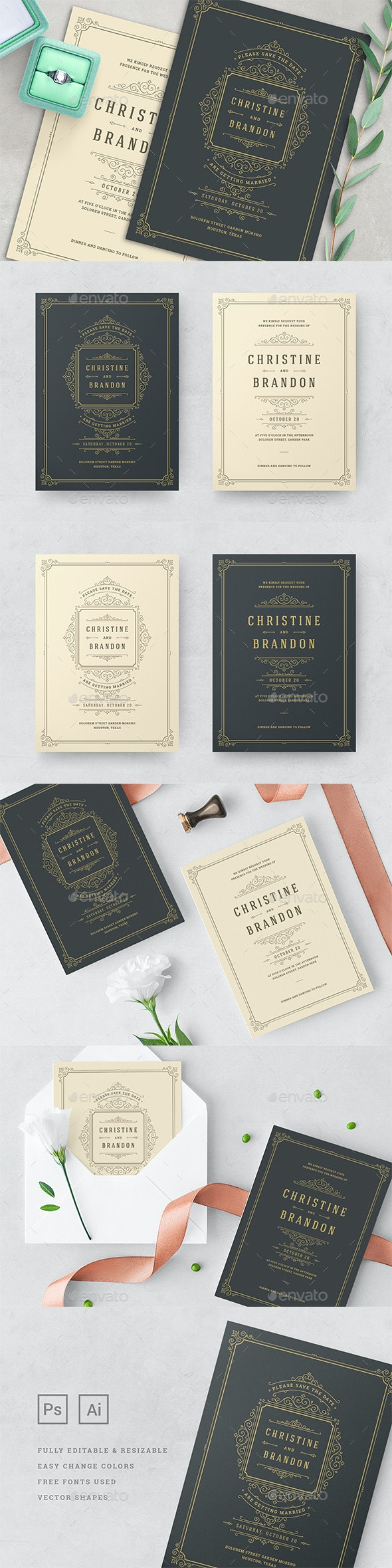 Wedding Invitations Cards Templates - Weddings Cards & Invites