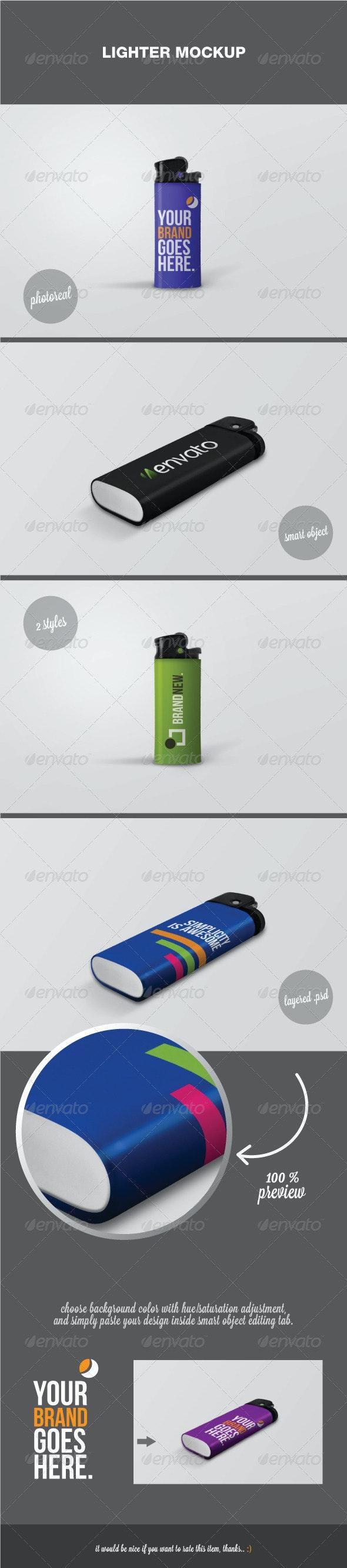 Lighter Mockup - Miscellaneous Product Mock-Ups