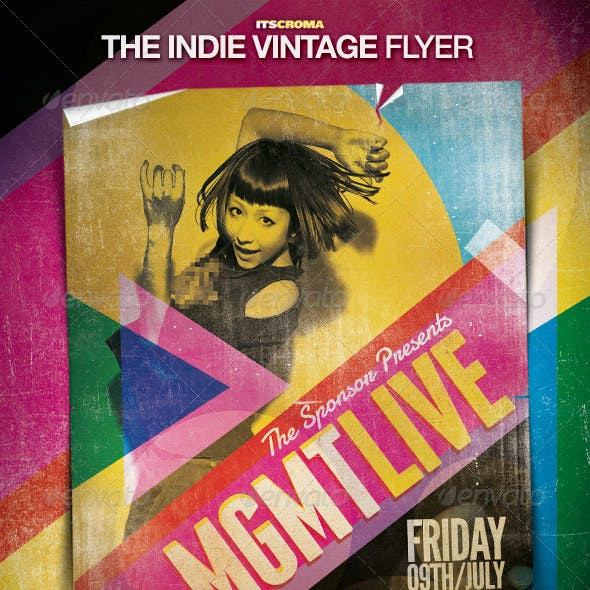 Indie Vintage Flyer / By Croma