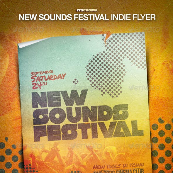 Indie Flyer Poster - New Sounds Festival
