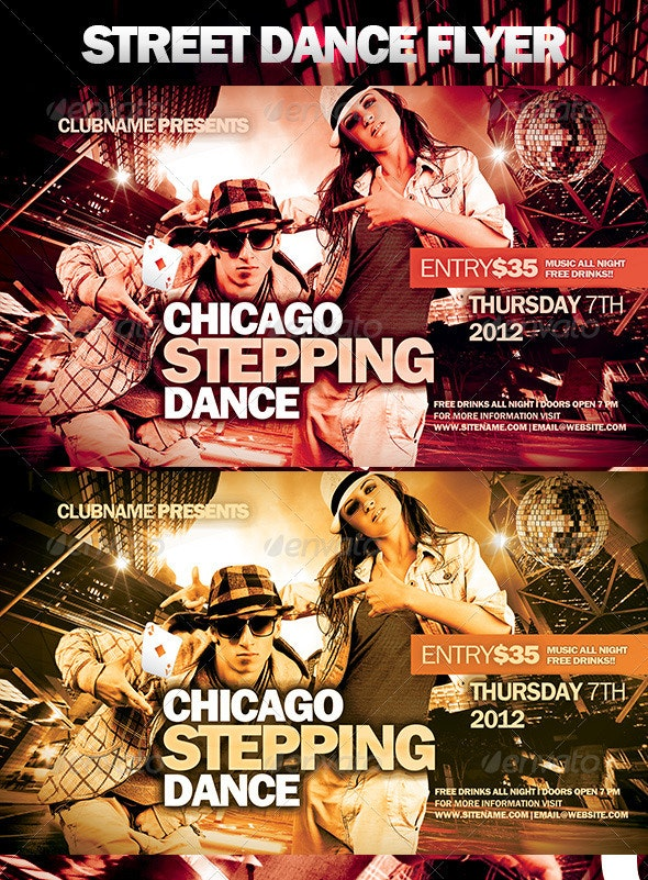 Street Dance Flyer - Clubs & Parties Events