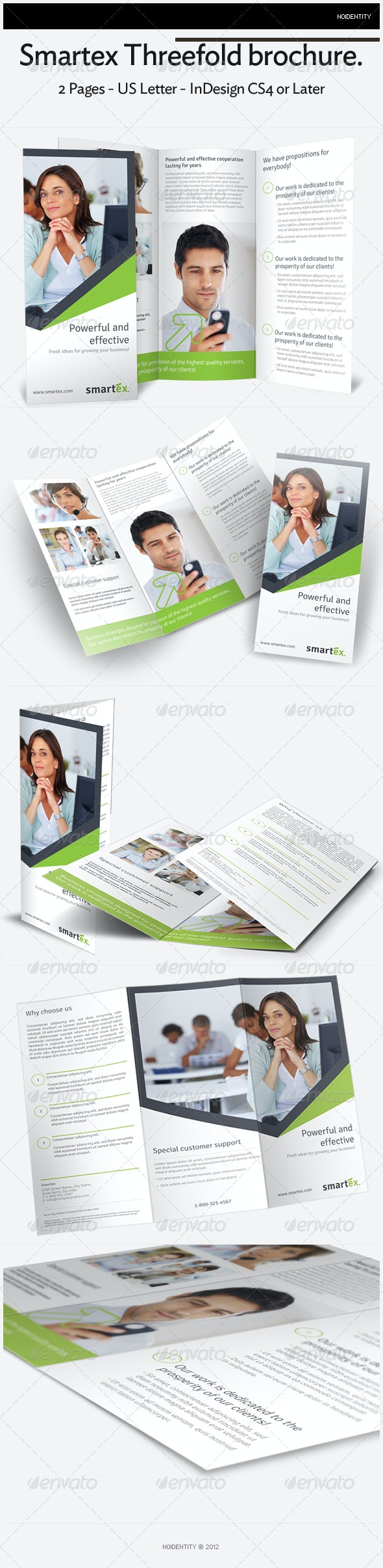 Smartex Threefold Brochure - Brochures Print Templates