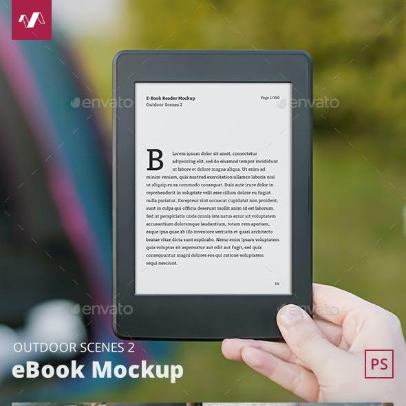 eBook Mockup Outdoor Scenes 2