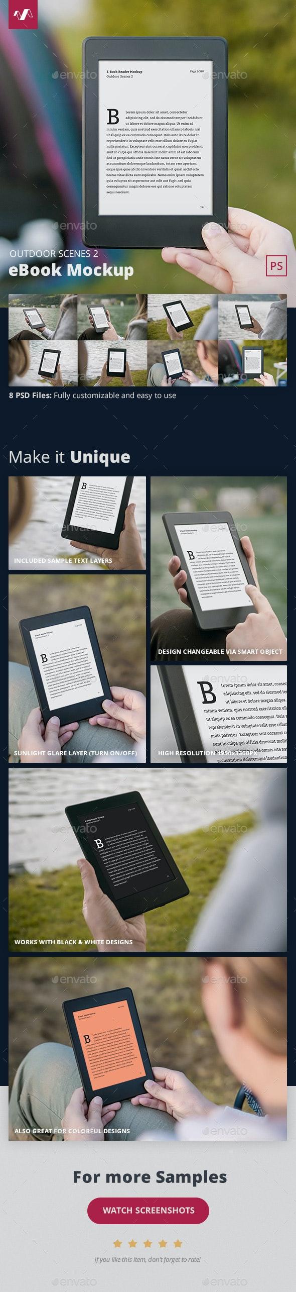 eBook Mockup Outdoor Scenes 2 - Miscellaneous Displays