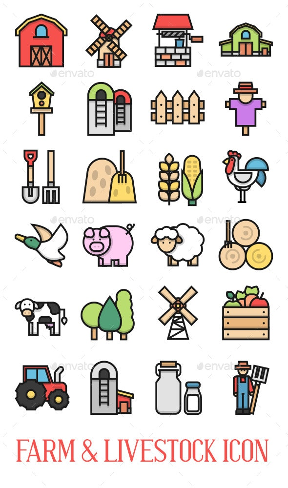 24 Farm & Livestock Icon - Miscellaneous Icons
