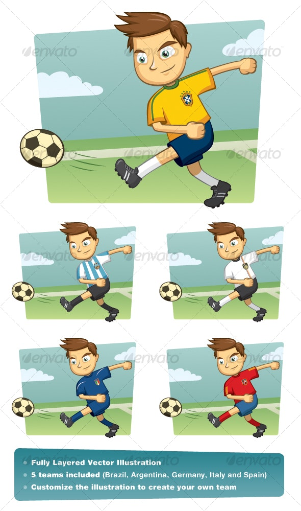 World Cup Soccer Player - Sports/Activity Conceptual