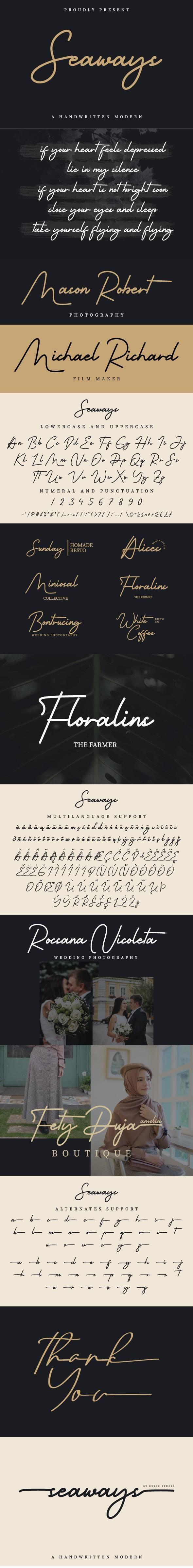 Seaways Script Font - Script Fonts
