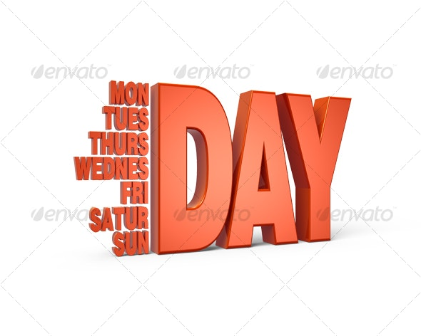 Days of Week - Backgrounds Graphics